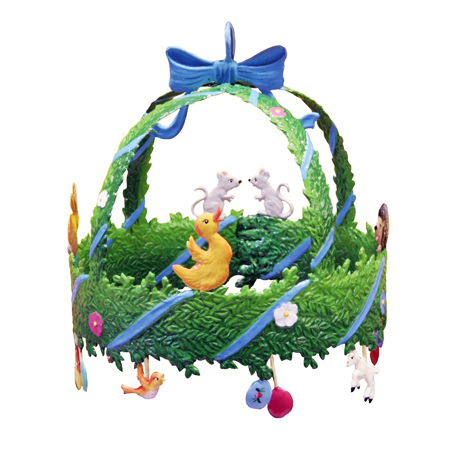 3D Easter Wreath - hanging pewter ornament