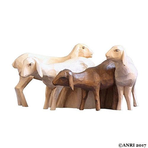 ANRI - Sheep group - STEVIA Silent Night nativity