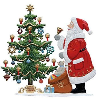 Standing Santa Pewter Ornaments