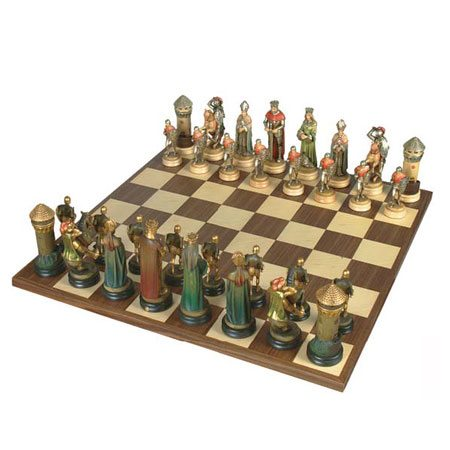 ANRI - Chess set Montsalvat half-gold