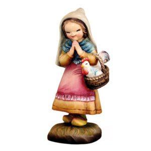 ANRI - Girl with rooster - Juan Ferrandiz