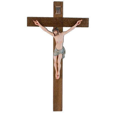 ANRI - Kruzifix bemalt gerade Kreuz
