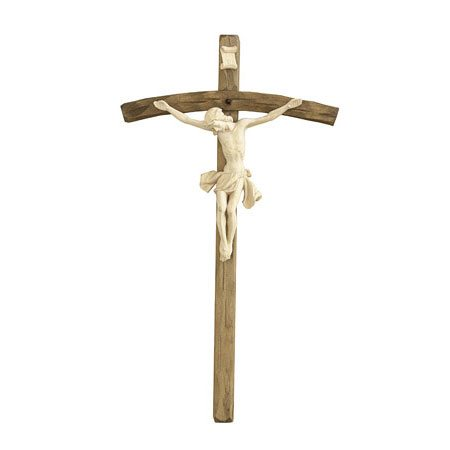 ANRI - Crucifix natural wood