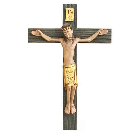 ANRI - Spätromanisches Kruzifix in Gold