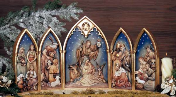 ANRI - Relief Nativity - Set
