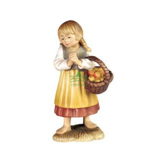ANRI - Shepherdess with basket - Walter Bacher nativity