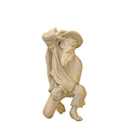 ANRI - Shepherd kneeling - Walter Bacher nativity plain wood