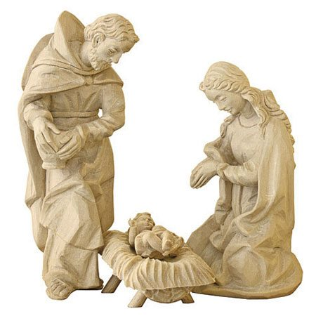 ANRI - Holy Family - Walter Bacher nativity plain wood