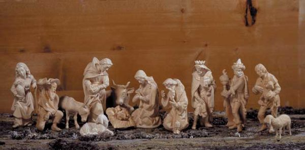 ANRI - Walter Bacher nativity Set plain wood