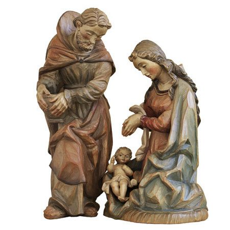 ANRI - Holy Family - Walter Bacher nativity Linden wood
