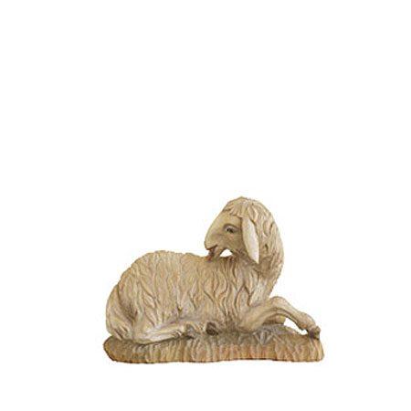 ANRI - Sheep licking - Walter Bacher nativity Linden wood