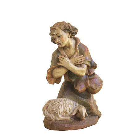ANRI - Shepherd kneeling with lamb - Florentiner nativity
