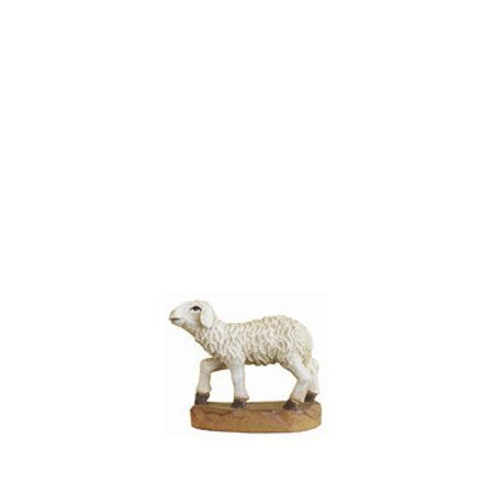 ANRI - Lamb standing head up - Karl Kuolt nativity Linden wood