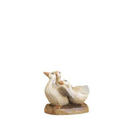 ANRI - Group of geese - Karl Kuolt nativity Linden wood