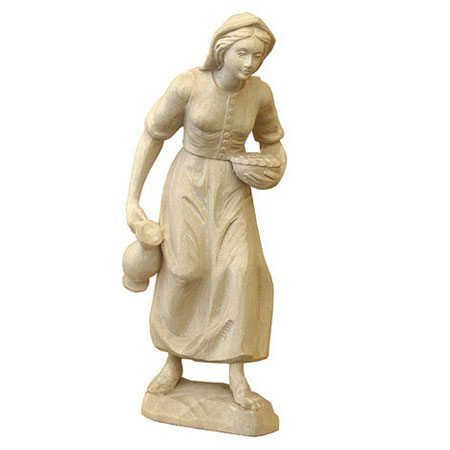 ANRI - Woman with jar - Karl Kuolt nativity plain Linden wood