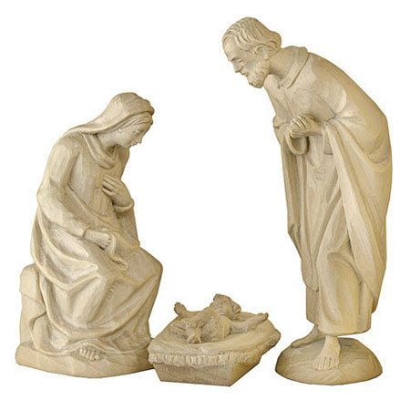 ANRI - Holy Family - Karl Kuolt nativity plain Linden wood