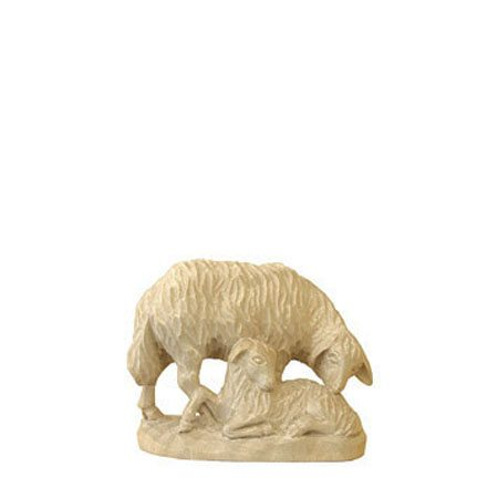ANRI - Sheep with lamb - Karl Kuolt nativity plain Linden wood