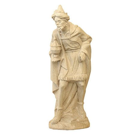 ANRI - Wise man Caspar - Karl Kuolt nativity plain Linden wood