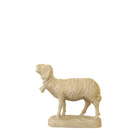 ANRI - Sheep with bell - Karl Kuolt nativity plain Linden wood