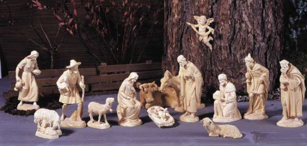 ANRI - Karl Kuolt nativity plain Linden wood - Set