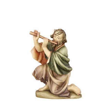 ANRI - Shepherd kneeling with flute - Ulrich Bernardi nativity