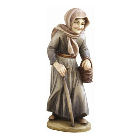 ANRI - Old woman with basket - Ulrich Bernardi nativity