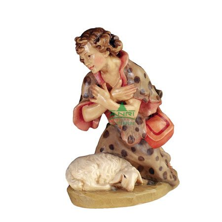 ANRI - Shepherd kneeling with lamb - Florentiner nativity