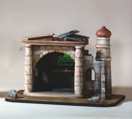 """ANRI - Stable Walter Bacher - Nativity Stables - 12.5cm/5"""""""