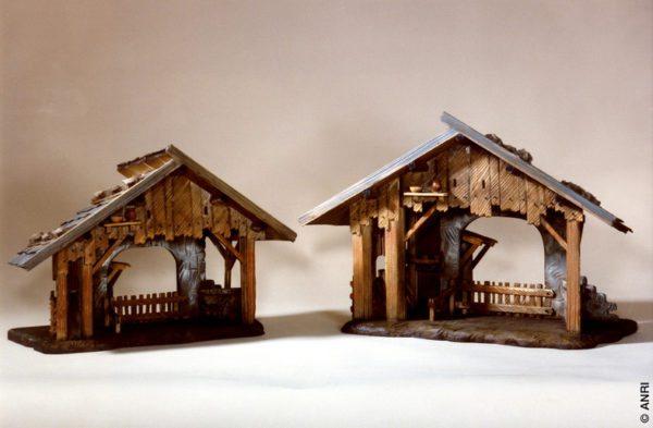 """ANRI - Stall Florentiner - Krippenställe - 12.5cm/5"""""""