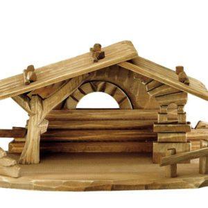 Family nativity barn