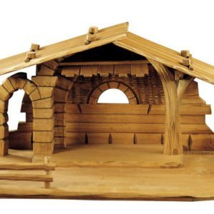 Nativity stable with archway