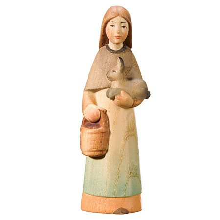 Playful nativity - Shepherdess with basket
