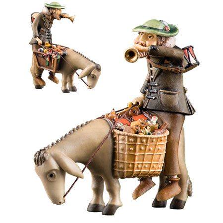 Toyman on donkey - Kastlunger nativity