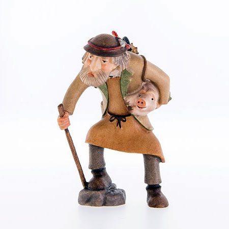 Shepherd with piglet - Kastlunger nativity