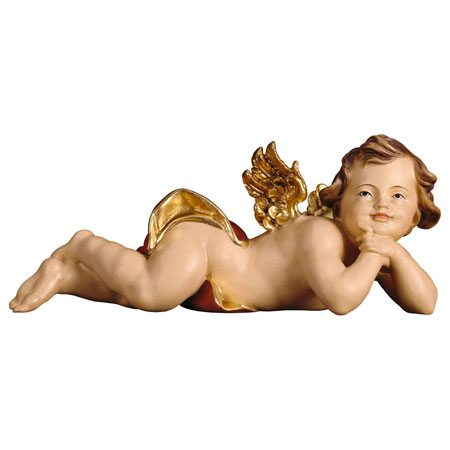 Cherub lying left red