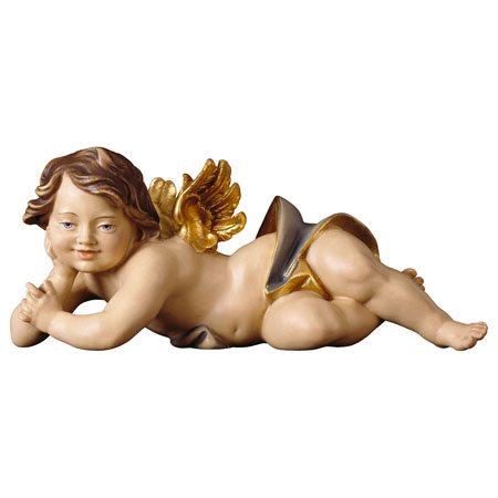 Cherub lying right blue