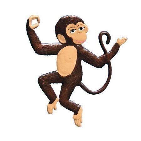 Monkey - hanging pewter ornament