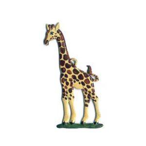 Giraffe - hanging pewter ornament