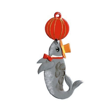 Seal - hanging pewter ornament