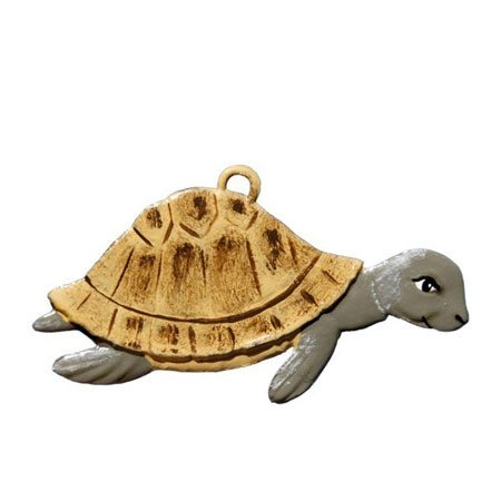 Turtle - hanging pewter ornament