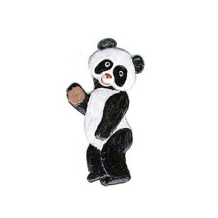 Panda - hanging pewter ornament