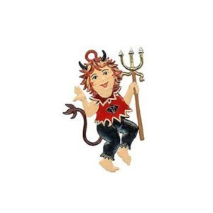Little Devil - hanging pewter ornament