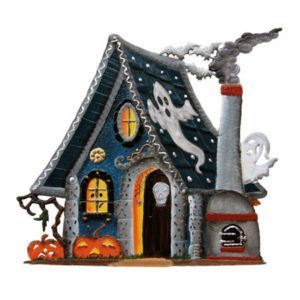 Halloween Haunted House - standing pewter ornament