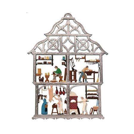 Craftsmen - hanging pewter ornament