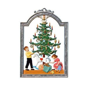 December - hanging pewter ornament
