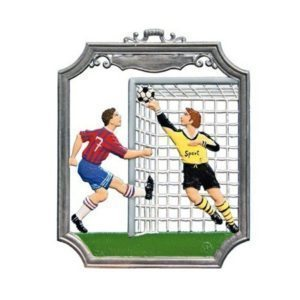 Soccer - hanging pewter ornament