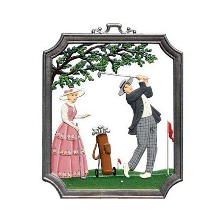 Golf - hanging pewter ornament