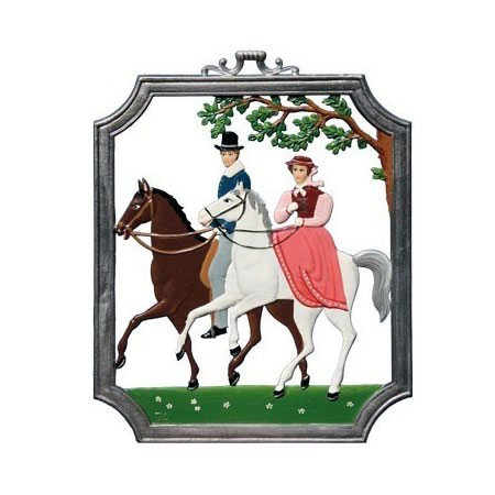Equitation - hanging pewter ornament
