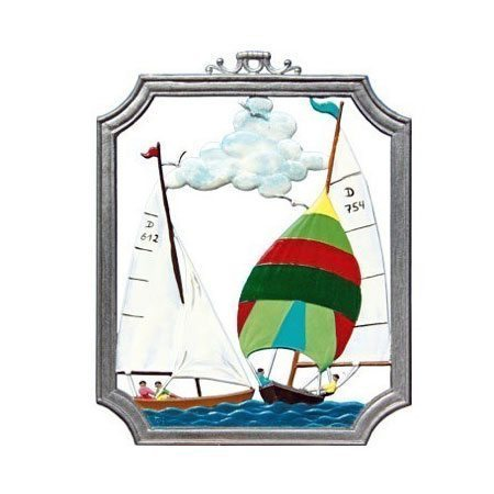 Sailing - hanging pewter ornament