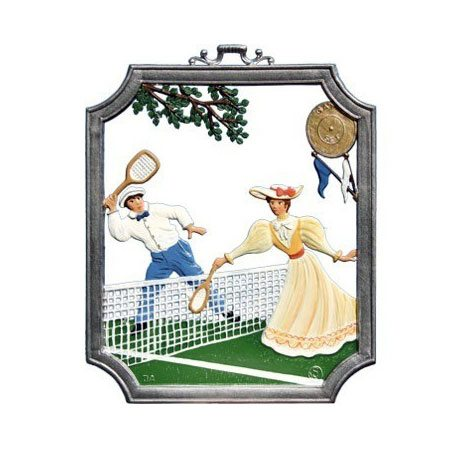 Tennis - hanging pewter ornament
